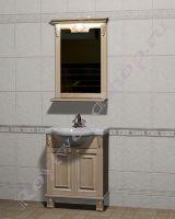 """Мебель в ванную из дерева с зеркалом """"Челси-2 УОРВИК-55 береза"""""""