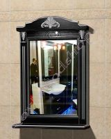 """Зеркало с подсветкой для ванной комнаты """"Руссильон PROVENCE-65 черное дерево"""""""