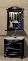 """Декоративно состаренная мебель для ванных """"Руссильон PROVENCE-85 черное дерево"""""""
