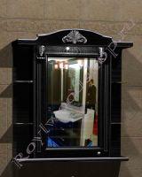 """Зеркальный шкаф для ванных комнат """"Руссильон PROVENCE-85 черное дерево"""" (левое открывание)"""