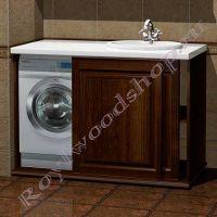 """Шкаф для стиральной машины """"Челси-2 КОМБИ-L орех"""""""