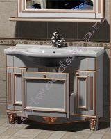 """Раковина для ванной с тумбой """"Руссильон PROVENCE-100 светлое дерево"""""""