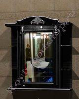 """Зеркальный шкаф для ванной комнаты """"Руссильон PROVENCE-85 черное дерево"""" (правое открывание)"""