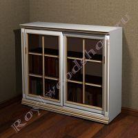 """Книжный шкаф со стеклянными дверями """"Лондон СИТИ-С белый"""""""