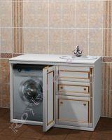 """Тумба для ванной """"Руссильон PROVENCE-120 белое золото"""". Расположение раковины справа."""