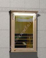 """Зеркальный шкаф для ванных """"Челси-2 УОРВИК-55R береза"""" из дерева (правая дверка)"""