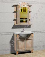 """Мебель из массива для ванной """"Глазго Эндрю-75R береза"""""""