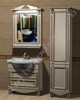 """Мебель для ванных из дерева """"Руссильон PROVENCE-80 светлое дерево"""" с зеркалом"""