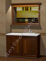 """Комплект в ванную со стиральной машиной """"Челси-2 КОМБИ-L орех"""" с зеркалом"""