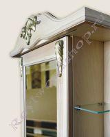 """Зеркало-шкаф для ванной комнаты с подсветкой """"Глазго Эндрю-75 береза"""""""