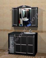 """Мебель в туалет под стиральную машину """"Руссильон PROVENCE Комби-L черный"""""""